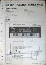 Roland JX-3P PG-200 Keyboard Synthesizer Original Service Manual Schematics Book