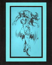 SPACE HEROES PRO MATTED PRINT UNPUBLISHED ARTWORK Al Williamson & Frank Frazetta