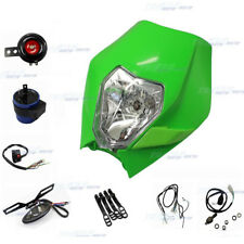 GREEN REC REG Motorbike Light Kit Dirt Pit Bike Honda Suzuki Kawasaki Yamaha KTM