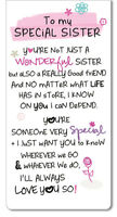 Special Sister Inspired Words Magnetic Bookmark Sentimental Gift Range