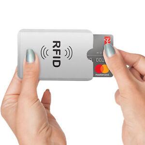 Etui de protection RFID protege carte bleu ultra securisé anti sans contact 2pcs