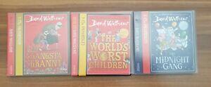 David Walliams World's Worst Children Gangsta Granny The Midnight Gang Audio CDs