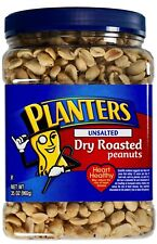 Planters Unsalted Dry Roasted Peanuts Made in Usa, 35 Ounces