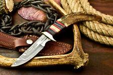 Custom Handmade Damascus Steel Blade Hunting Knife | Ram's Horn