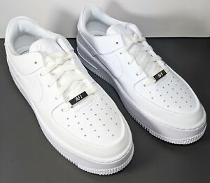 Nike Air Force 1 Sage Low Sneakers Shoes Triple White Womens Size 8 AR5339 100