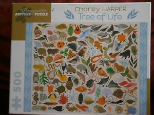 Charley Harper Tree of Life 500-piece jigsaw Pomegranate