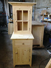 HANDMADE BESPOKE PINE GLAZED KITCHEN CUPBOARD
