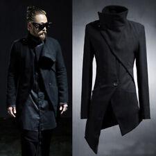 Abrigo Trench de Moda para Hombre Punk Goth chaquetas asimetría largo abrigo Tops Caliente