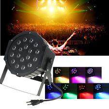 18 RGB LED Stage Light Disco DJ Club PAR Can DMX-512 Lighting Bar Party Strobe
