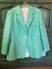 LOUIS FERAUD Womens 1 Button Front Blazer Jacket Coat Sz 16 Couture Classy Hot!!