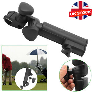 Adjustable Black Golf Umbrella Holder Plastic Golf Trolley Cart Accessory