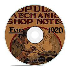 Vintage Popular Mechanics Shop Notes, 1905-21, 12 Vintage Magazine Issues CD V16