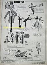 RARE PUBLICITE ORIGINALE ONOTO DESSIN MICH PORTE PLUME 1913 PEN FRENCH AD