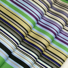 Cotton Print Fabric by Fat Quarter Classic Retro Stripe Dress Quilting Crafts A8