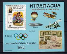 Nicaragua Bl. 111 postfrisch / Olympiade Flugzeuge