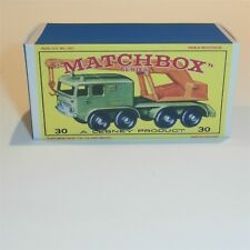 Matchbox Lesney 30 c 8 Wheel Crane Truck empty Repro E style Box