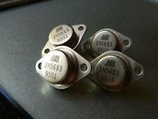 QTY 4 QUAD 2n5683 TO-3 Power Transistor PNP 50A 300 Watt FREE SHIPPING