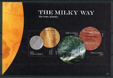 Gambie 2018 neuf sans charnière Milky Way planètes intérieures Mercure Vénus Mars 3 V M/S I Espace timbres