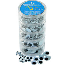 Wobbly Eyes (B/W) X500 - 5 Sizes (Wiggly) Stacker Tubs