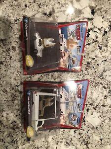 DISNEY PIXAR CARS 2 THE POPEMOBILE DELUXE #9 & POPE PINION #8 *NEW & VHTF*