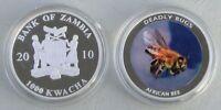 Sambia / Zambia 1000 Kwacha 2010 Ostafrikanische Hochlandbiene Silber pp