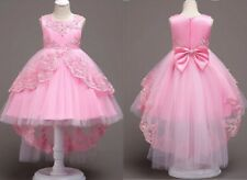 Flower Girl Dress Princess Formal Graduation Bridesmaid Gown Embroider Dress New
