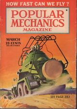Popular Mechanics Magazine March 1941 How Fast Can We Fly? 101917nonjhe