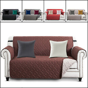 Quilted Waterproof Sofa Slip Covers OR Velvet Cushion Cover OR Filled Cushions