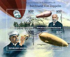 Ferdinand Von Zeppelin Airship Stamp Sheet (2013 Central African Republic)