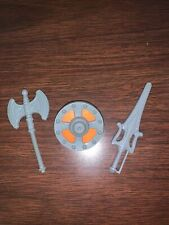 Vintage MOTU He-Man Axe, Sword & Shield. Complete Accessories!  COO USA