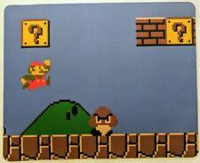 "Larger size Retro Super Mario 8 bit NINTENDO Anti slip COMPUTER MOUSE PAD 10x8"""