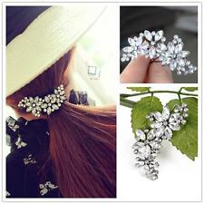 Fashion Rhinestone Barrette Hair Clip Hairpin Flower Petal