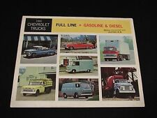 1965 Chevrolet Full Line Trucks Sales Brochure Chevy Large Fold Out