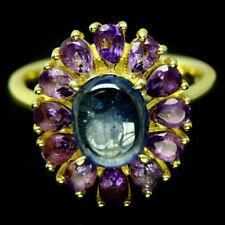 TOP HEAT ONLY SAPHIRE RING : Natürliche Blau Saphir Sterlingsilber Ring R140