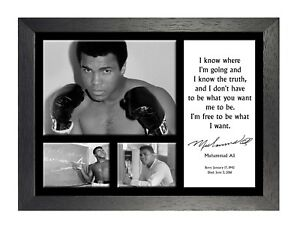 Muhammad Ali 4 Famous Sports Quote Boxing Legend Signed Picture Photo Poster
