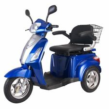 3 Wheeled ELECTRIC MOBILITY SCOOTER 48V 500W BLUE Tricycle 8 mph / 16 mph