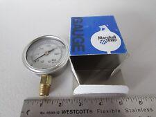 "Marshal Town G27395 Stainless 0-600PSI 1/4"" NPT Bellowfram Pressure Gauge USA"