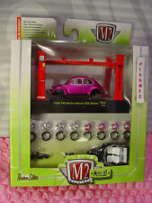 M2 Machines Model-Kit 1956 VW BEETLE DELUXE USA MODEL∞Hot Pink VOLKSWAGEN Bug❀