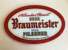 Braumeister Independent Milwaukee Brewery Sign, RARE- Mint- Price REDUCED