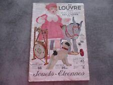 CATALOGUE ETRENNES JOUETS AU LOUVRES PARIS - DECEMBRE 1932