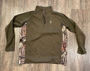 Browning Pullover Realtree Camo Mens Large Camouflage Brown Large Infinity