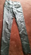 DENIM CLUB BLACK  SKINNY JEANS SIZE 10 WAIST 62 cms LENGTH 72 cms