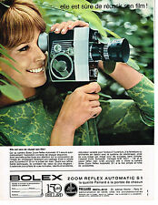 PUBLICITE ADVERTISING 035  1964  PAILLARD BOLEX  caméra ZOOM REFLEX AUTOMATIC S1