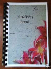 ADDRESS BOOK BIRTHDAY ANNIVERSARY ORGANIZER Personalized Gift 420 No Tabs