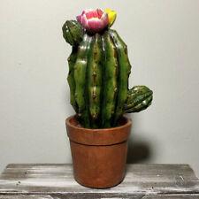 NEW Cactus Blossom Resin Figurine Desk Home Decor