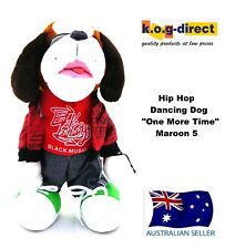 "ELECTRONIC SOFT TOY DOG DANCING HIP HOP MOVING DARK BROWN ""ONE MORE NIGHT"" HW-81"