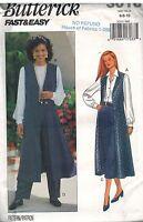 3018 Vintage Butterick Sewing Pattern Misses Vest Skirt Pants Fast Easy UNCUT 10