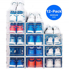 Neatly Shoe Organizer for Closet - Stackable Shoe Storage, Shoe Rack for - Clear