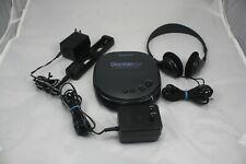 Sony Discman ESP D-242CK W/ Sony A/C Adpt, Sony Headphones, Sony Battery Charger