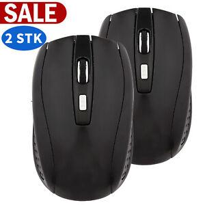 2 X 2,4GHz Wireless Maus USB Maus Kabellose Maus Funkmaus für Laptop Notebook PC